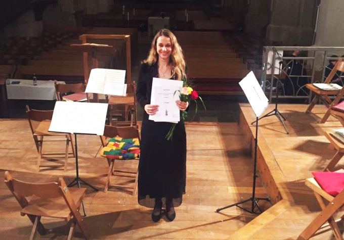 Iuliia Tarasova, 2. Gewinnerin des CantataBach! Gesangswettbewerbs